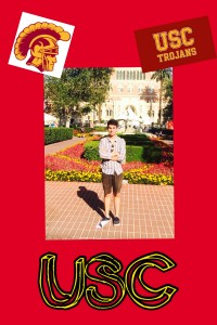 Cole is a sophomore at USC. Go Trojans!!!!